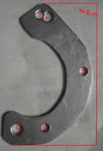 Bild 6:  Schablone - leider zu groß